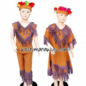 kostum anak lucu Indian