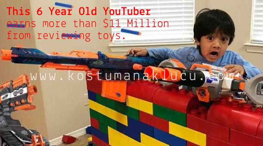 Berumur 6 tahun, Pendapatan Anak ini Telah Belasan Juta Dollar